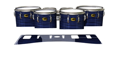 Yamaha 8300 Field Corps Tenor Drum Slips - Lateral Brush Strokes Navy Blue and Black (Blue)