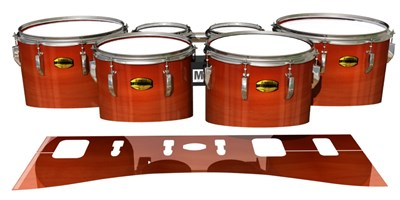 Yamaha 8300 Field Corps Tenor Drum Slips - Scarlet Stain (Orange)