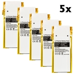 5-Pack Battery for Apple iPod Nano 4th Gen