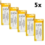 5-Pack Battery for Apple iPod Nano 5th gen A1320