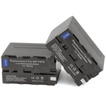 2 Pack Battery Sony NP-F960 NP-F550 NP-F330