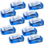 10 Pack Travel Universal Battery Charger for