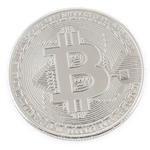 Bitcoin Challenge Coin Silver colored Nickel Plated