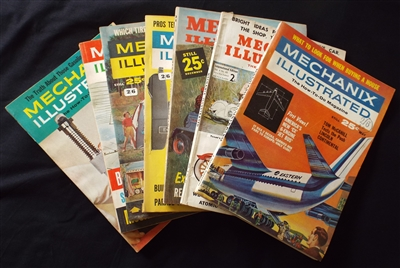 Vintage 1950's and 1960's Mechanix Illustrated Magazines (7) - Sold