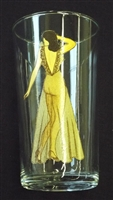 1940s Risque Pin-up Girl Drinking Glass Clothes On & Off - sold