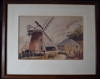 Watercolour of Selsey Windmill Signed Mary Hunter 1948 - Sold