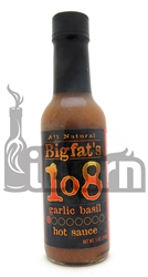 Bigfat's 108 Garlic Basil Hot Sauce