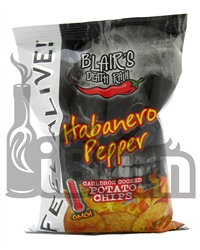 Blair's Death Rain Habanero Pepper Potato Chips 1.5oz