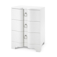 Bardot 3-Drawer Side Table, White