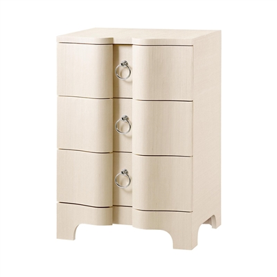 Bardot 3-Drawer Side Table, Natural
