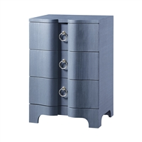 Bardot 3-Drawer Side Table, Navy