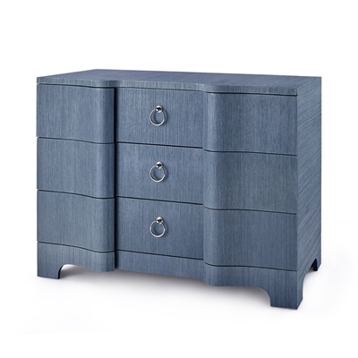 Bardot Large 3-Drawer, Navy