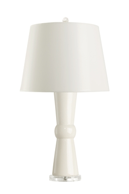 White Clarissa Table Lamp