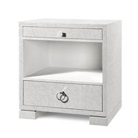 Bungalow 5 2- Drawer Side Table, White