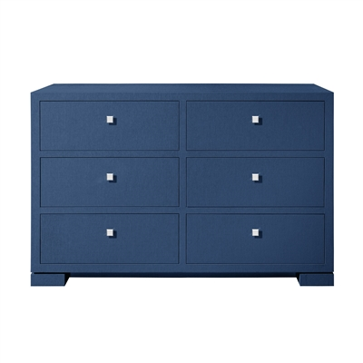 Bungalow5 - Frances Extra Large 6 Drawer Dresser Navy