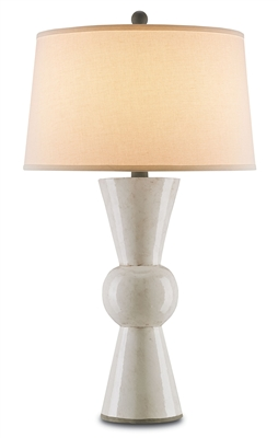 Currey & Company Upbeat White Table Lamp 6198
