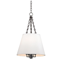 Burdett Conical Pendant by Hudson Valley Lighting 6415-AGB Aged Brass