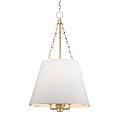 Burdett Conical Pendant by Hudson Valley Lighting 6422-AGB Aged Brass