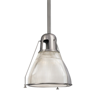 satin nickel and glass pendant 7308SN Hudson Valley Lighting