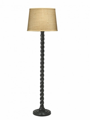 Jamie Young Barley Twist Floor Lamp, Black