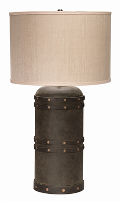 Jamie Young Leather Barrel Table Lamp