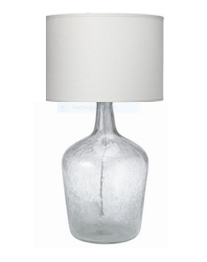 Jamie Young Med Clear Seeded Glass Plum Jar Lamp