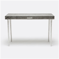 Made Goods Audrey Desk in Gray Linen