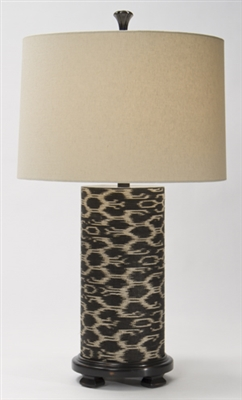 Ikat Cylinder Table Lamp