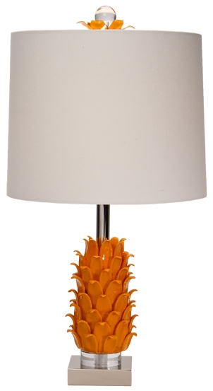 Paradise Palm Tiger Lily Table Lamp
