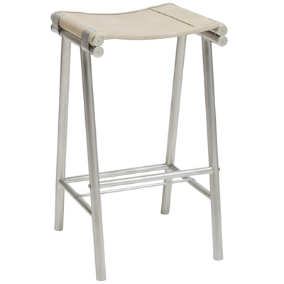 Palecek 7542-79 Counter Stool with stainless steel legs and leather seat