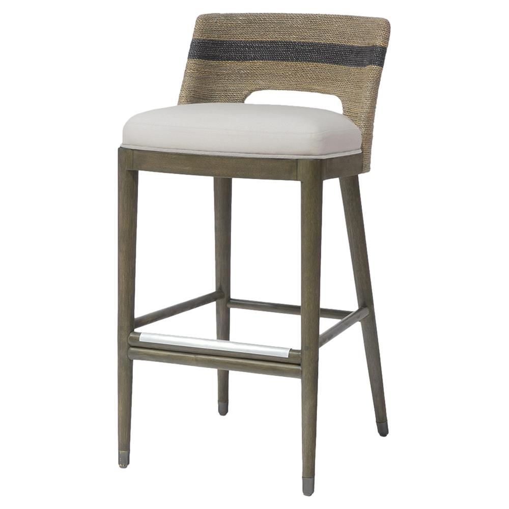 Peachy Palecek Fritz Rope Bar Stool Short Links Chair Design For Home Short Linksinfo