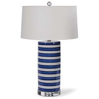 Striped Column Table Lamp