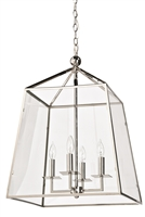 Cachet Lantern Polished Nickel