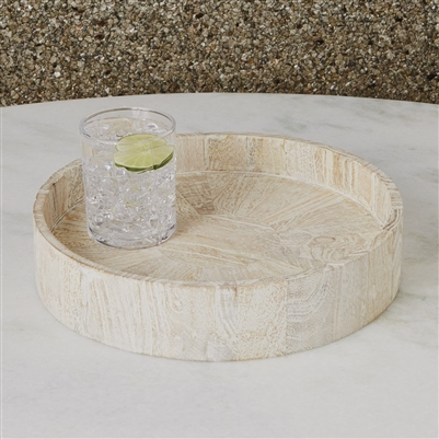 Studio A Driftwood Drum Table