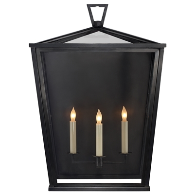 Visual Comfort Darlana Large 3/4 Wall Lantern
