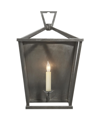 Visual Comfort Darlana Wall Lantern in Aged Iron