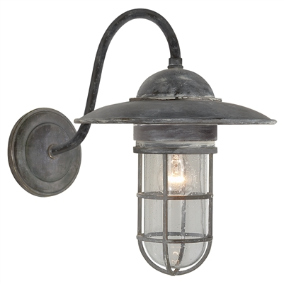 visual comfort marine medium light in zinc