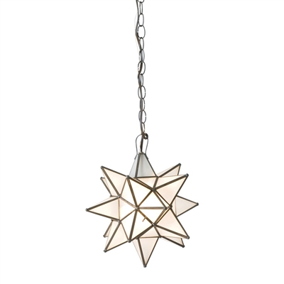 Small Frosted Glass Star Chandelier