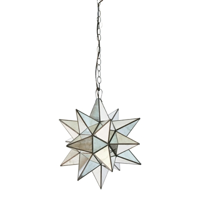 Large Mirrored Glass Star Chandelier