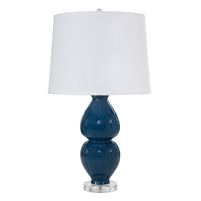 Julia Table Lamp in Navy by Worlds Away