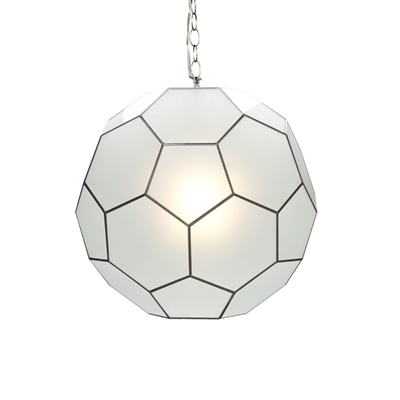 Small Knox Frosted Glass Pendant