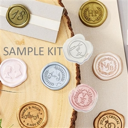 Sample Kit for ordering specific Hand-Pressed  Self Adhesive Wax Seals