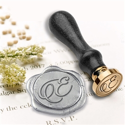 "Wedding Custom Wax Seal Stamps  3/4"" Die-Initials"