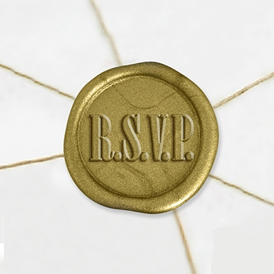 "Self Adhesive Symbol Wax Seal Stickers  1 1/4"" - RSVP"
