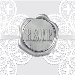 RSVP Adhesive Wax Seals - Wedding Symbol