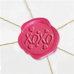 "Self Adhesive Symbol Wax Seal Stickers  1 1/4"" - XOXO"