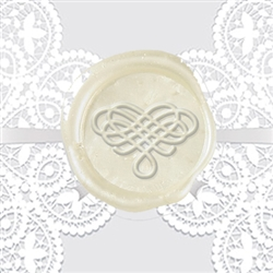 Filigree Heart Adhesive Wax Seals - Wedding Symbol