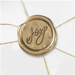"Self Adhesive Symbol Wax Seal Stickers  1 1/4"" - Joy"