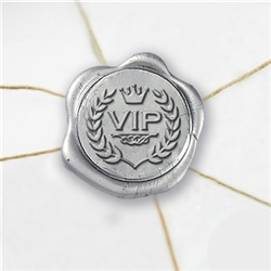 "Self Adhesive Symbol Wax Seal Stickers  1 1/4"" - VIP"