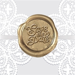 "Save the Date Adhesive Wax Seals - 1 1/4"" Wedding Symbol"